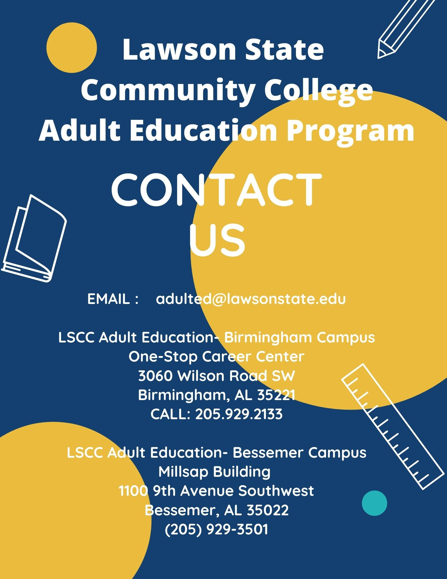 Adult Education Contact Information